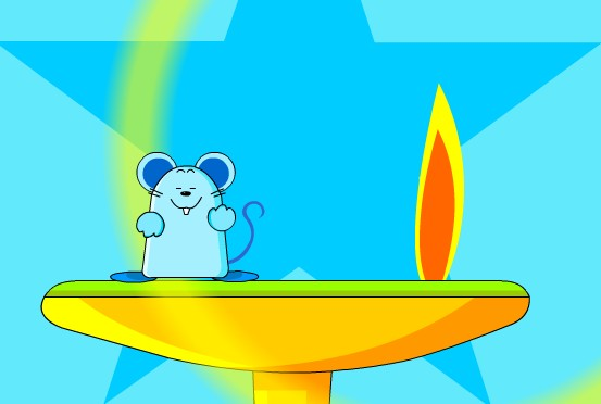 幼儿园音乐:小老鼠上灯台 (flash动画课件)