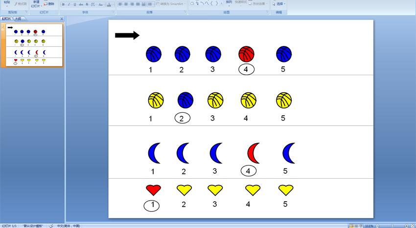 幼儿园小班情境数学:1-5的序数辨识 (ppt课件)