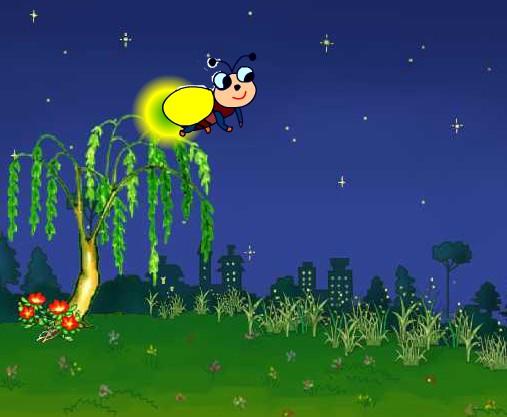 萤火虫[国语儿歌]下载—少儿独唱歌曲flash动画mtv; flash动画课件