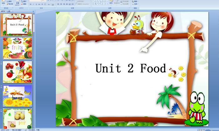[幼儿园大班英语课件]  下载点数:5   幼儿英语教案 简单水果单词